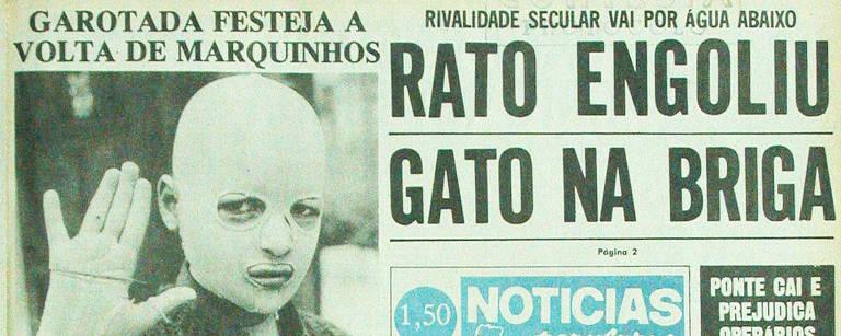 Manchete do Notícias Populares publicada em 27 de novembro de 1975