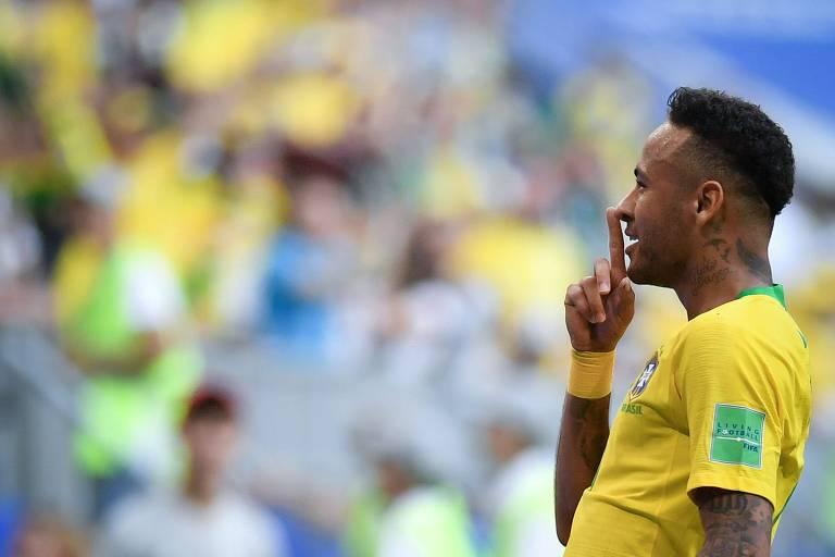 Reações de Neymar na Copa da Russia