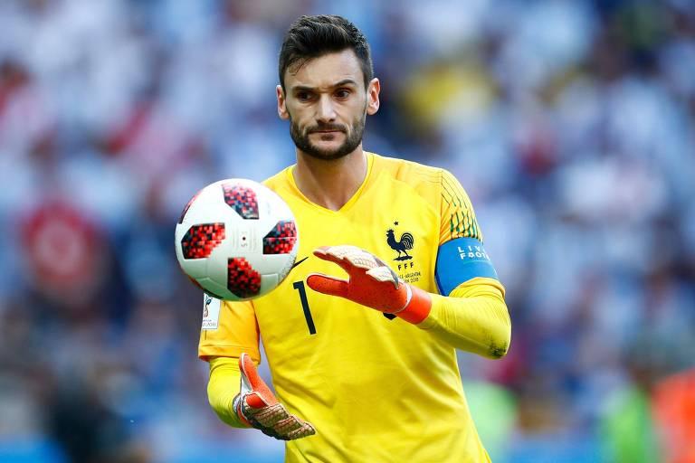 Lloris, da seleção francesa, na partida contra a Argentina