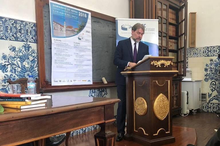 Ministro Dias Toffoli, do STF, participa do Seminário de Verão da Faculdade de Direito da Universidade de Coimbra