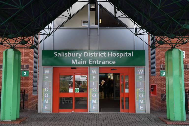 Hospital de Salisbury, onde casal de 40 anos foi levado com suspeita de envenenamento