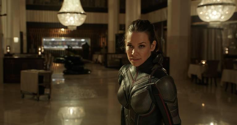 """Evangeline Lilly em cena de """"Homem-Formiga e a Vespa"""", de Peyton Reed"""