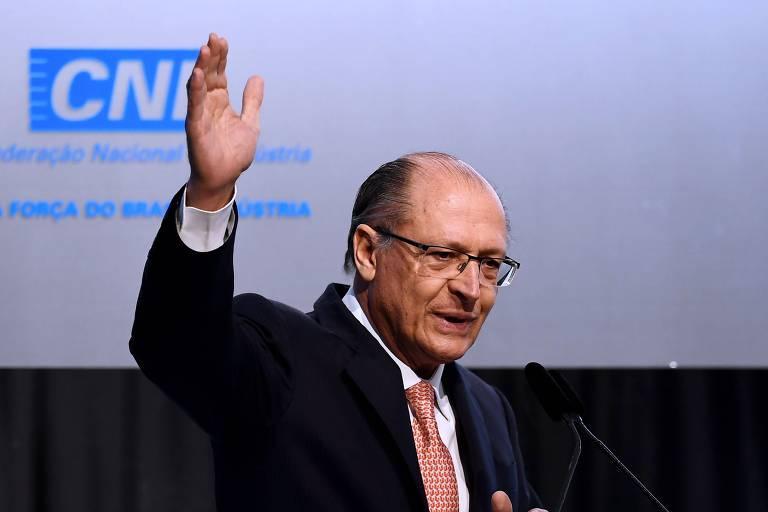 Geraldo Alckmin em evento da CNI em Brasília