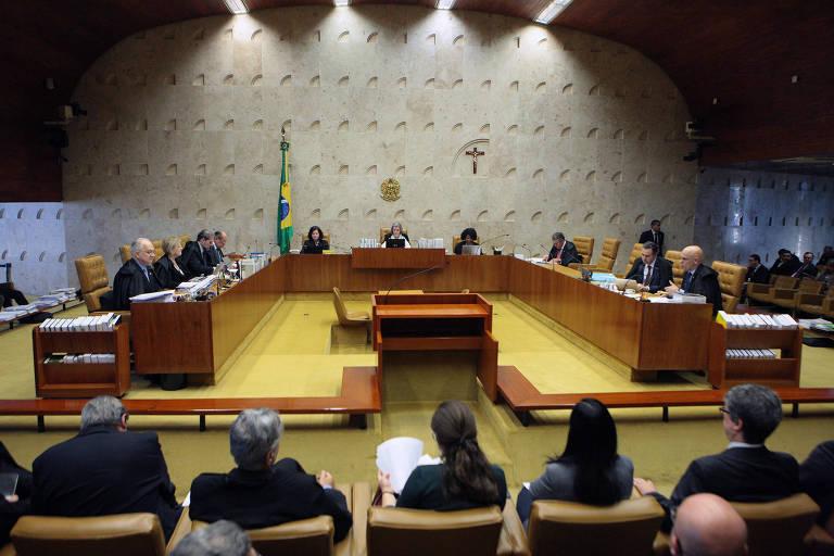 Sessão extraordinária do STF (Supremo Tribunal Federal), em Brasília