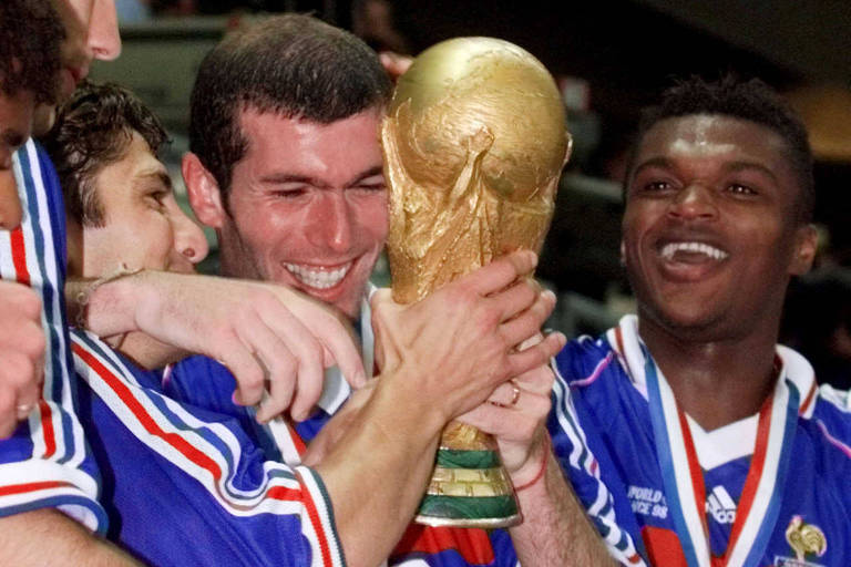 Brasil e França na final da Copa do Mundo de 1998