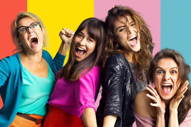 Da esq. para a dir., Keka (Deborah Secco), Marinati (Alessandra Negrini), Leandra (Maria Casadevall) e Sônia (Monica Iozzi) em 'Mulheres Alteradas'