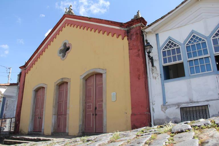 Fachada do teatro Casa da Ópera, inaugurado em 1770, em Ouro Preto (MG)