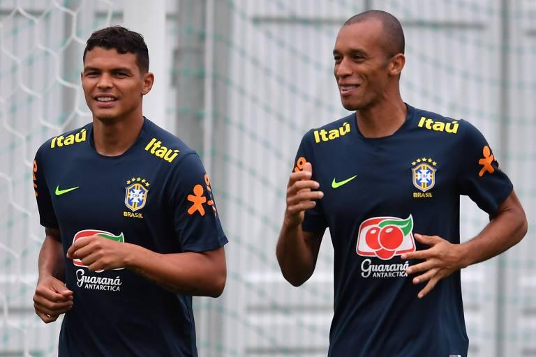 Thiago Silva e Miranda, ambos com 34, são dois dos veteranos da seleção na Copa América