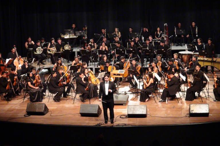 A Orquestra Jovem Vale Música se apresenta ao lado da Orquestra Sinfônica Jovem de Goiás