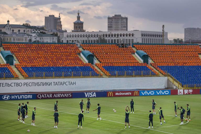 Treino da seleção brasileira em Kazan