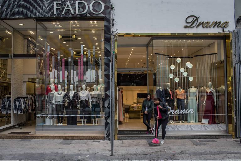 Comércio no Bom Retiro, em São Paulo