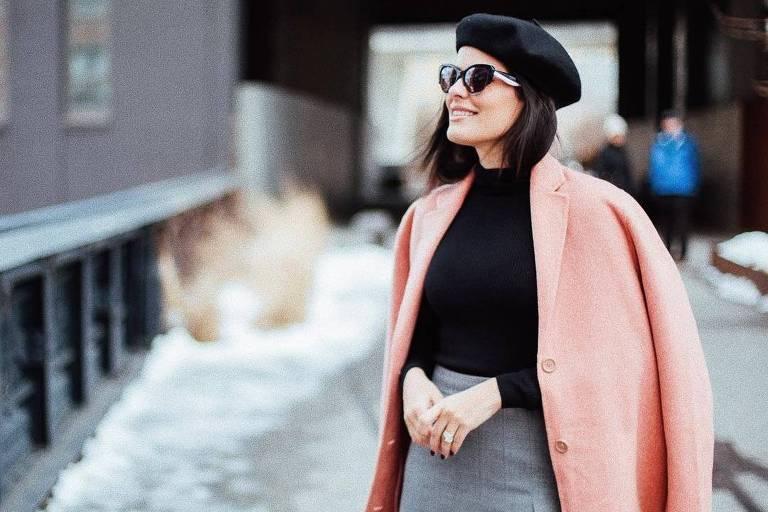 b64883bd33d0d A blogueira Mariah Bernardes usa boina francesa