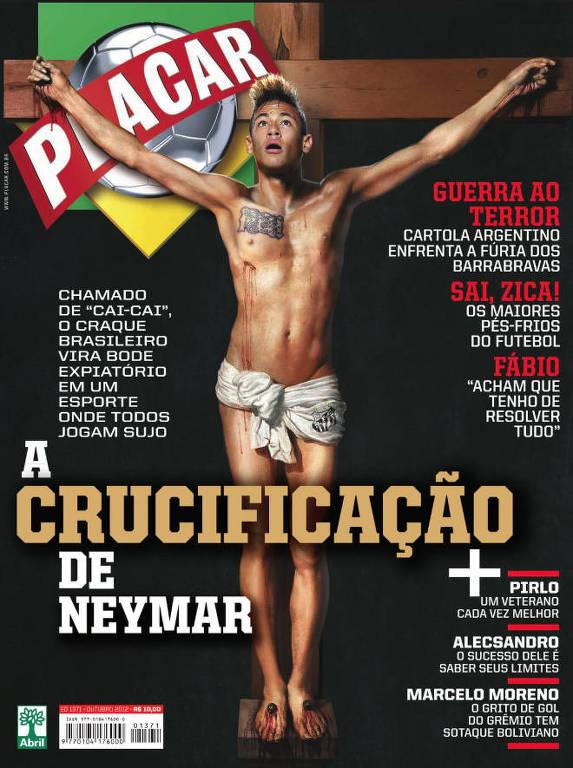 Em uma capa polêmica, de outubro de 2012, a revista trazia Neymar