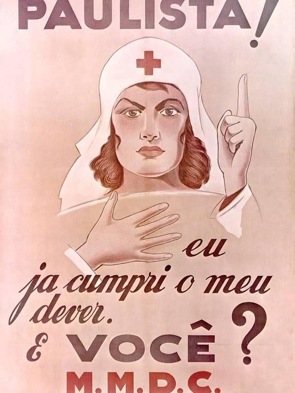 Cartaz chama mulheres paulistas para a Revolução de 1932