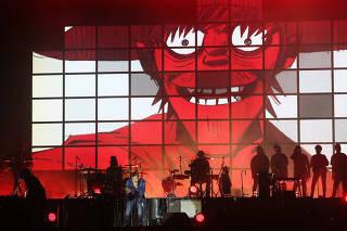 Gorillaz se apresenta com a turnê de 'Humanz', no Jockey Club, em São Paulo (SP)