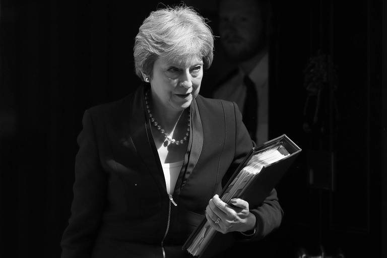 A primeira-ministra britânica, Theresa May, em Londres