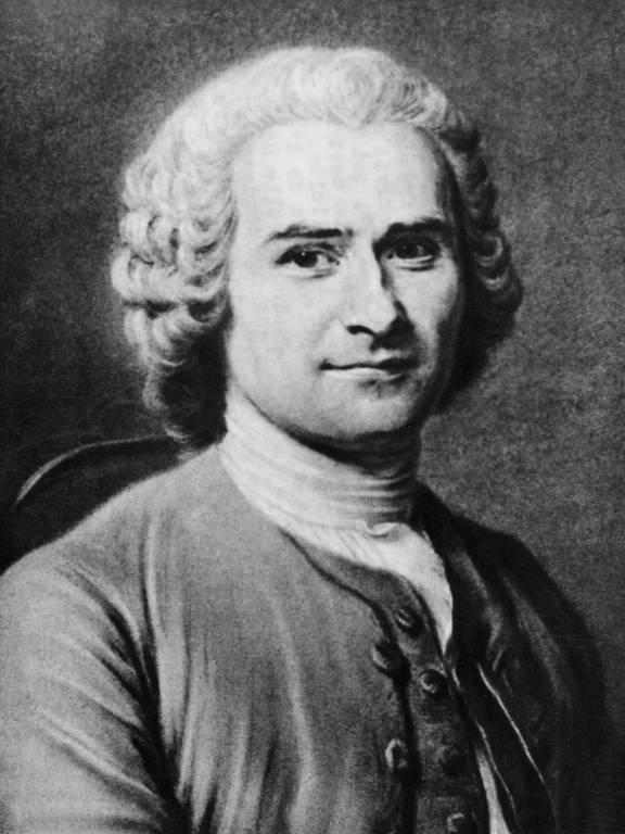 O filósofo e escritor Jean-Jacques Rousseau