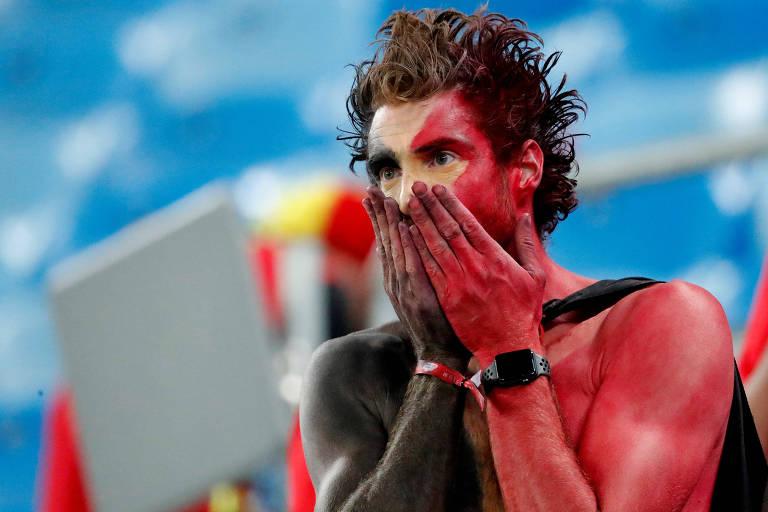 Tristeza dos torcedores belgas