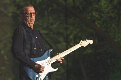 Eric Clapton em show no British Summer Time, no Hyde Park, Londres, em 9 de julho de 2018