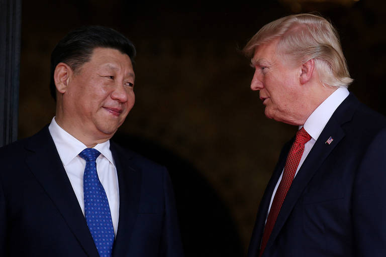 Xi Jinping, presidente chinês, e Donald Trump, presidente dos EUA