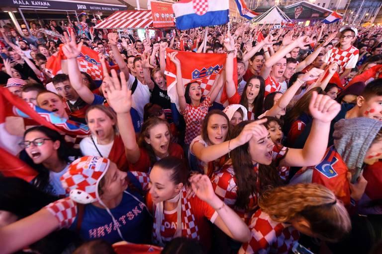 Zagreb em festa com virada da Croácia