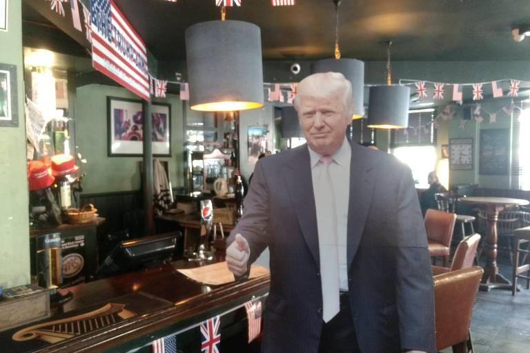 Pub em Londres faz homenagem a Donald Trump