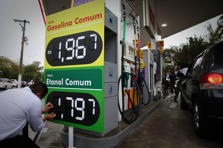 Posto na zona sul de São Paulo reduz o preço de gasolina e etanol em protesto