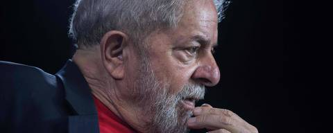 (FILES) In this file photo taken on March 01, 2018 former Brazilian president (2003-2011) Luiz Inacio Lula da Silva gestures during an interview with AFP at the Lula Institute in Sao Paulo, Brazil.