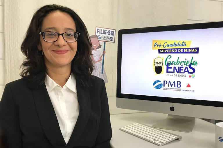 Gabriela Enéas, filha de Enéas Carneiro, que vai lançar pré-candidatura ao governo de Minas pelo PMB. Divulgação
