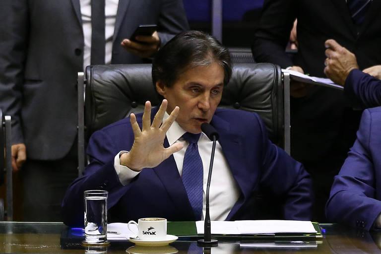 Congresso durante votação da LDO, sob a presidência de Eunício Oliveira (MDB-CE)