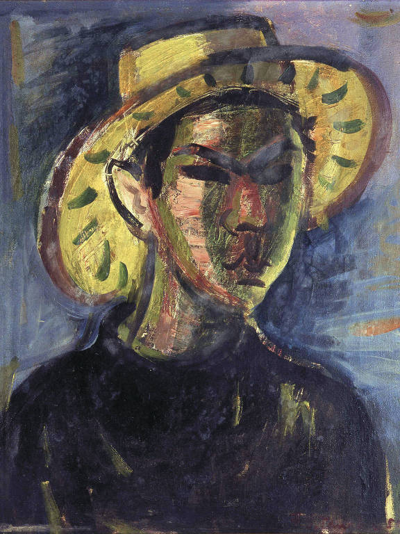 pintura de flavio com chapeu