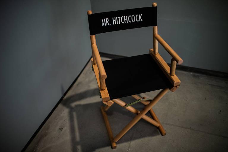 Detalhe da mostra 'Hitchcock - Bastidores do Suspense', no MIS