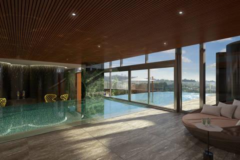 Projeção de como ficará o hotel Four Seasons São Paulo, o primeiro da rede no Brasil