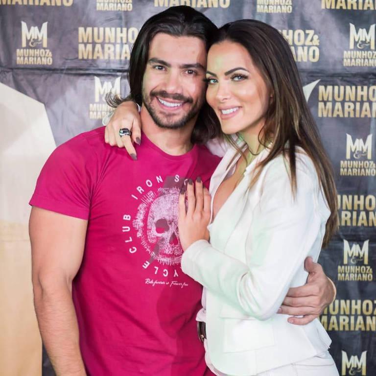 Carla Prata e cantor Mariano