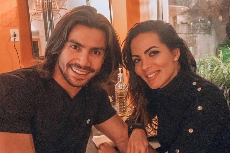 A ex-bailarina do Domingão do Faustão Carla Prata e o cantor sertanejo Mariano