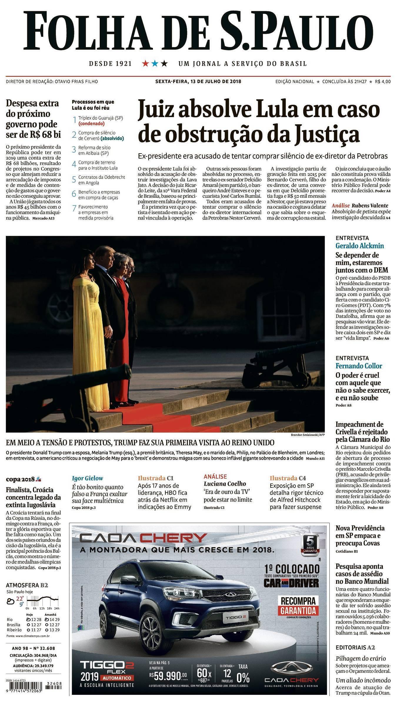 Capa da Edição Nacional da Folha 65910a43afac0