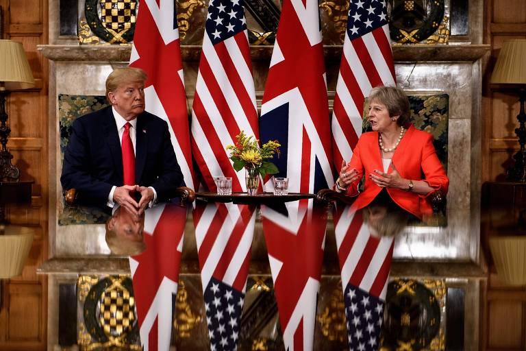 Visita de Trump ao Reino Unido
