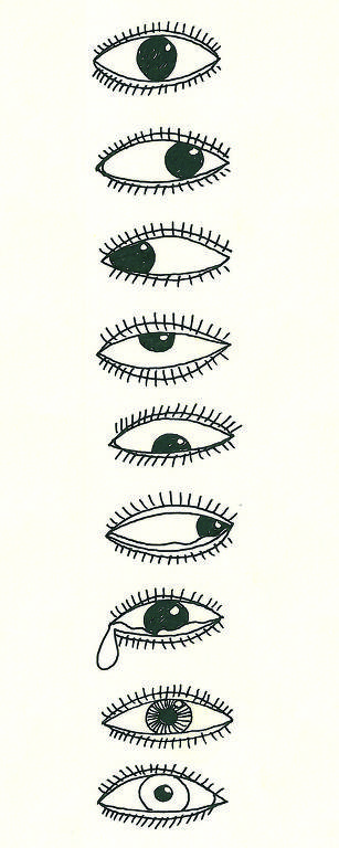 olhos desenhados