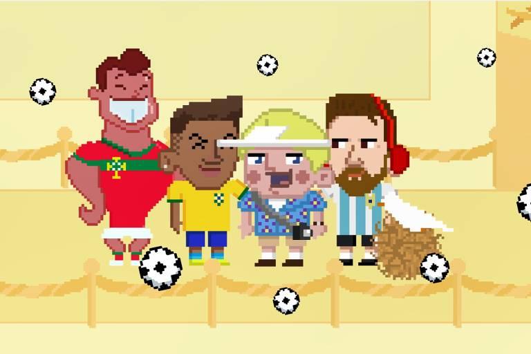 O Gringo se encontra no Aeroporto com todos os eliminados da Copa do Mundo na Rússia