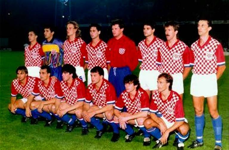 Primeira partida da seleção croata
