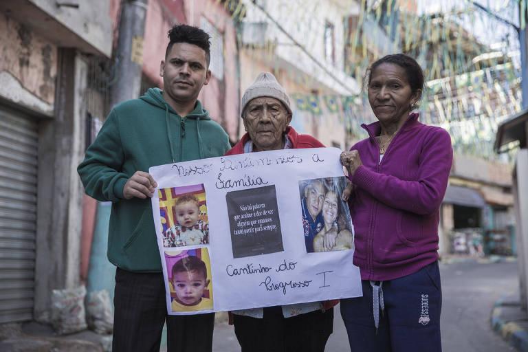 Família não consegue retirar corpos de parentes mortos em incêndio