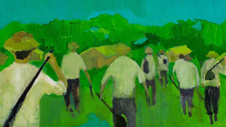 pintura de trabalhadores da roça