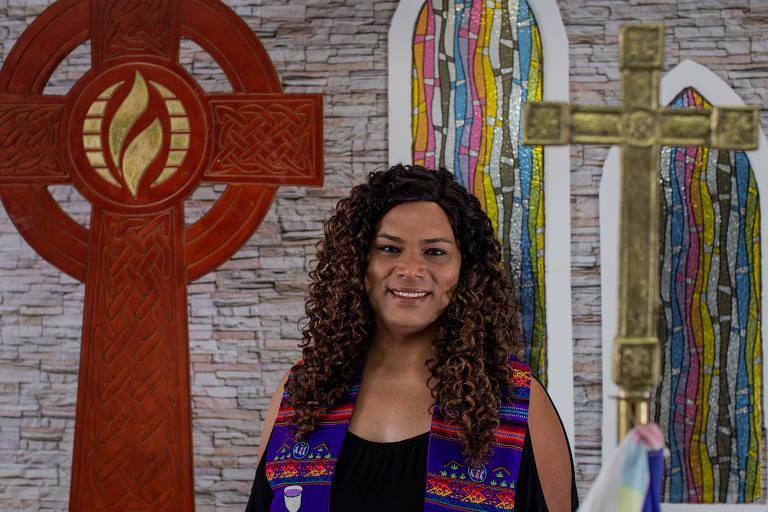 Alexya Salvador, pastora trans que vai disputar uma vaga na Câmara