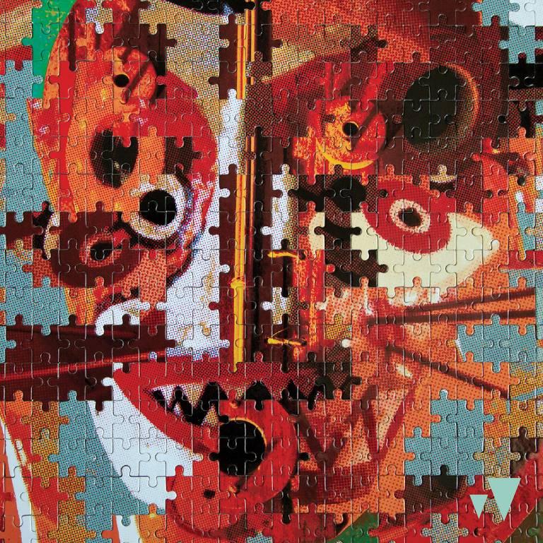 """Capa do álbum """"Quebra Cabeça"""", quarto trabalho autoral do grupo Bixiga 70, elaborada pelo artista plástico Mauricio Zuffo Kuhlmann, o MZK"""