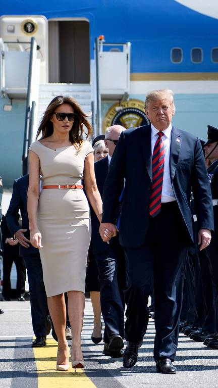 Os looks de Melania Trump em sua viagem à Europa