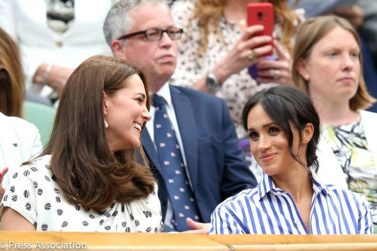 Kate Middleton e Meghan Markle vão juntas à semifinal de tênis em Wimbledon