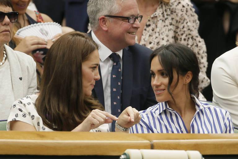 Kate e Meghan em Wimbledon