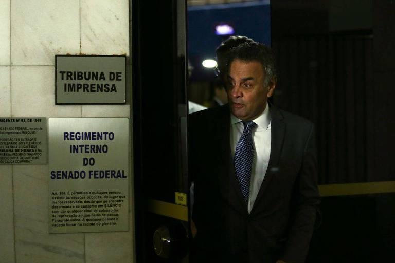 O senador Aécio Neves (PSDB-MG), alvo de ação do Ministério Público de Minas Gerais