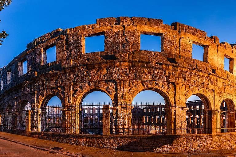 Anfiteatro romano, na cidade de Pula
