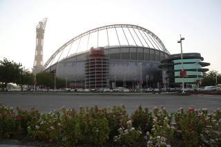 General view of Khalifa International Stadium in Doha